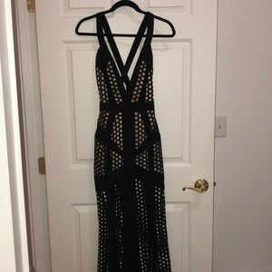House of CB deep V gown